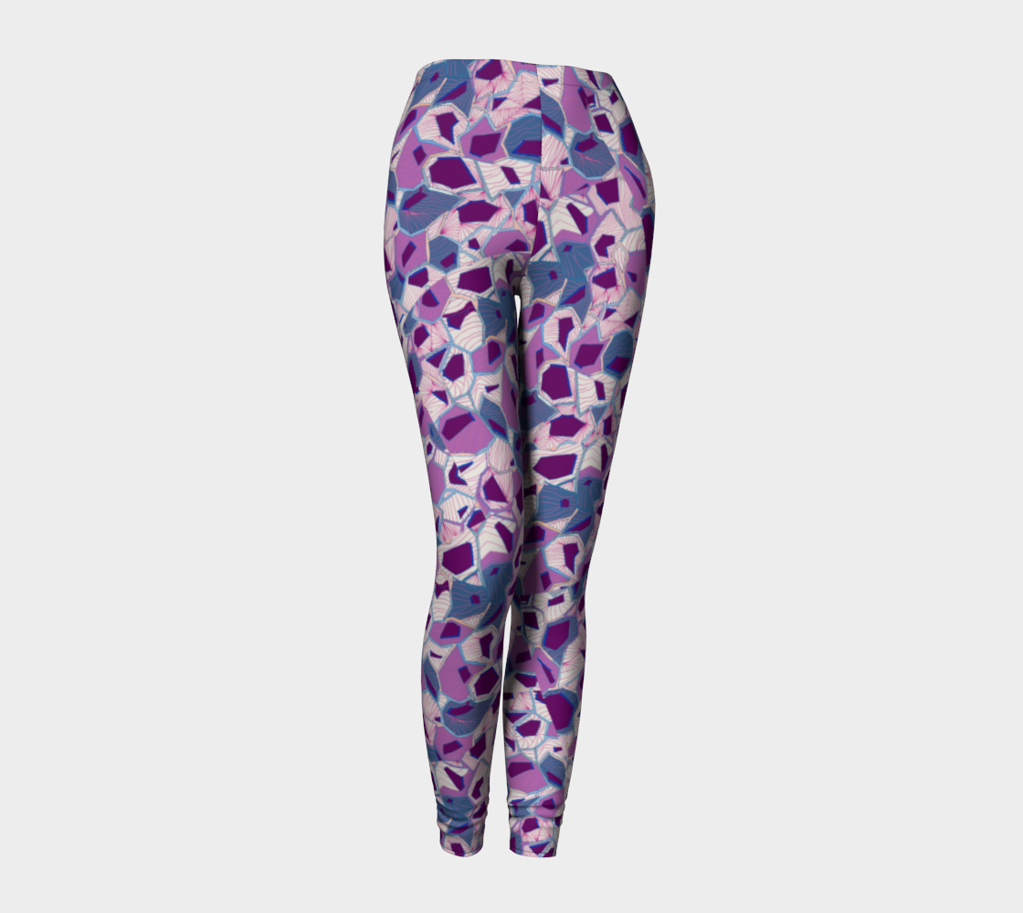 Plum Prisms Leggings