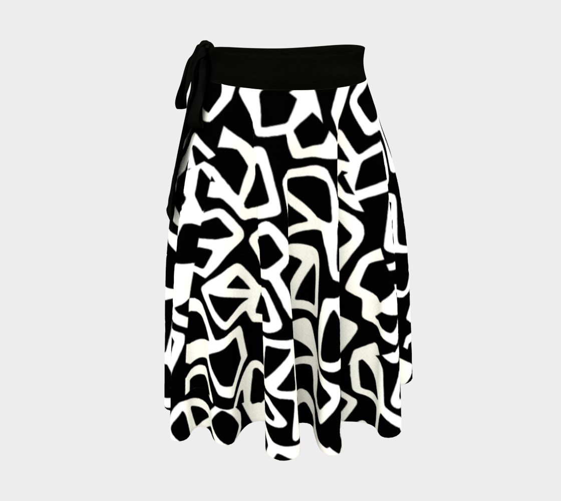 Contrast Wrap Skirt